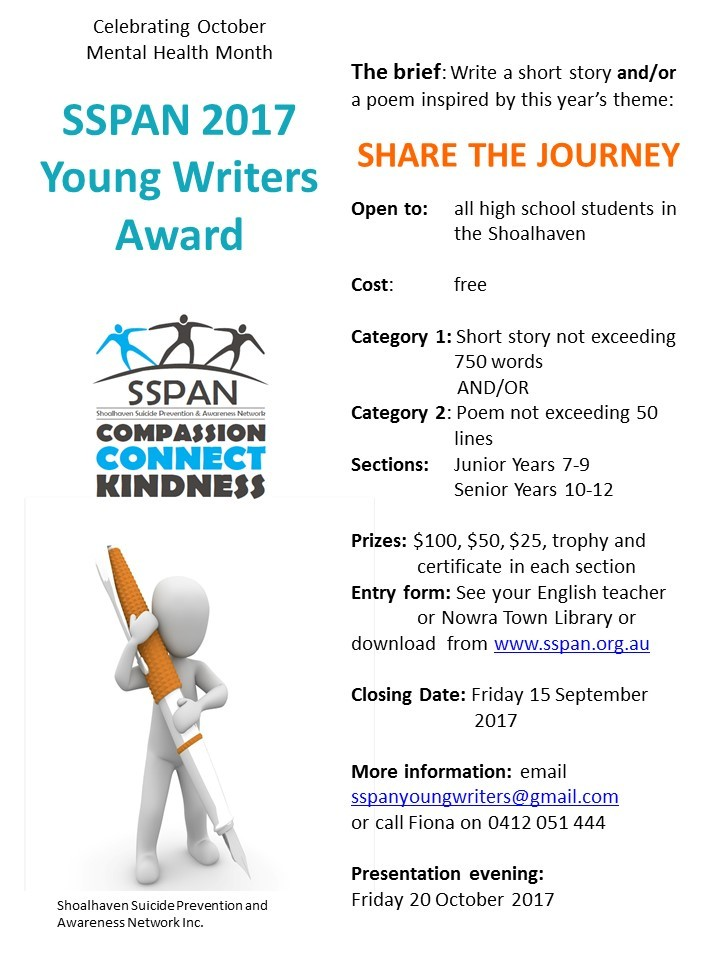 SSPAN Writing Competition - Shoalhaven High School
